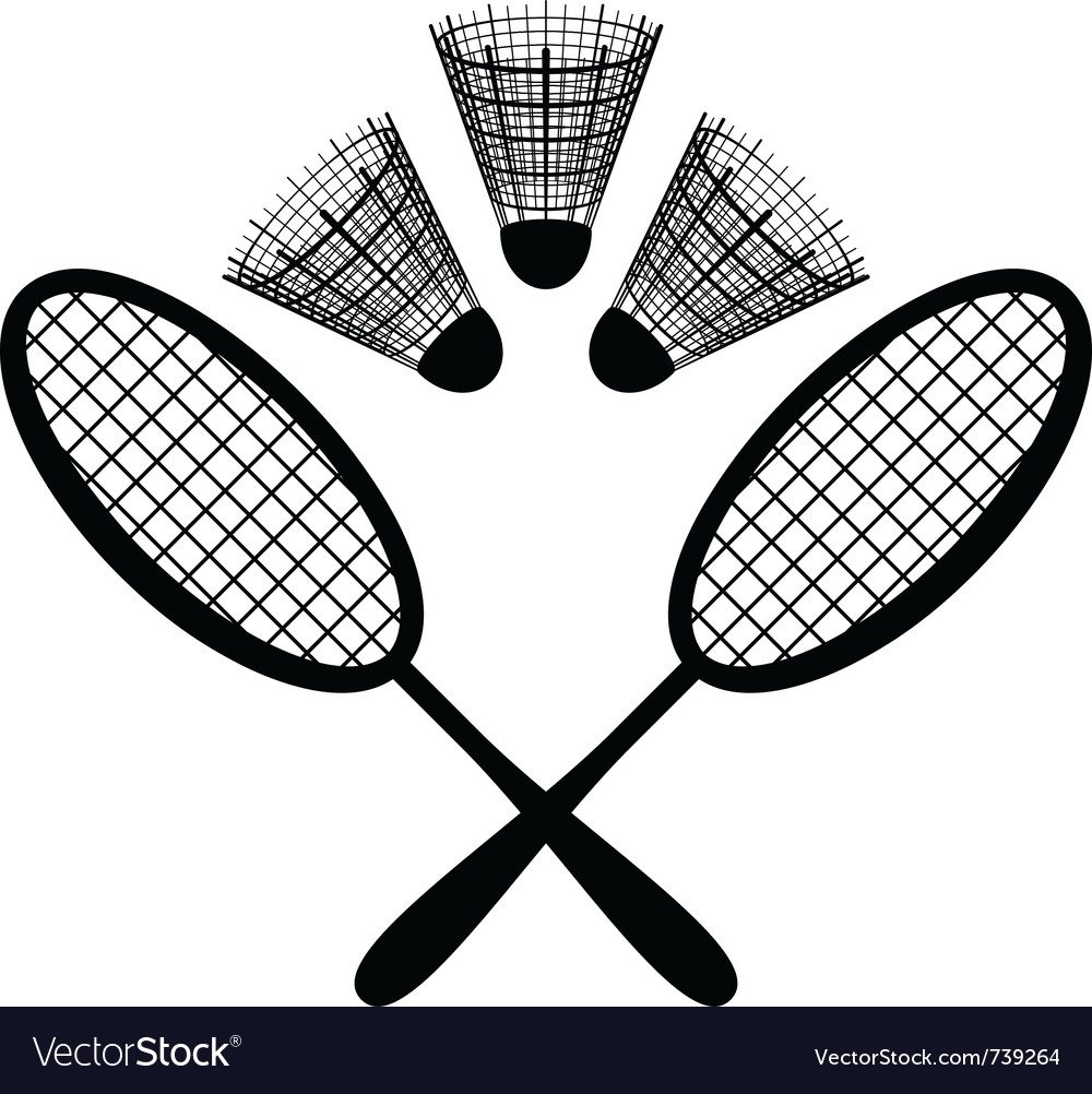 Equipment badminton vector | Price: 1 Credit (USD $1)