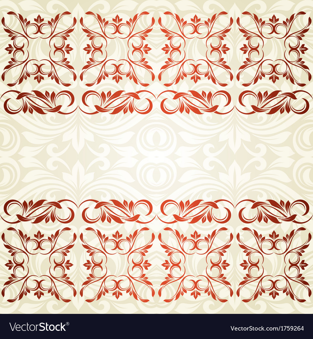 Floral border abstract flower background vector | Price: 1 Credit (USD $1)