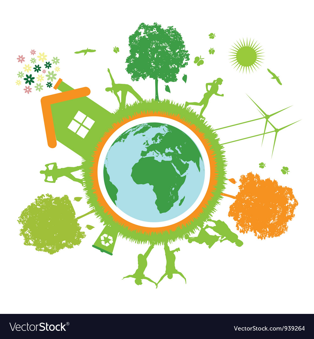Green world planet vector | Price: 1 Credit (USD $1)