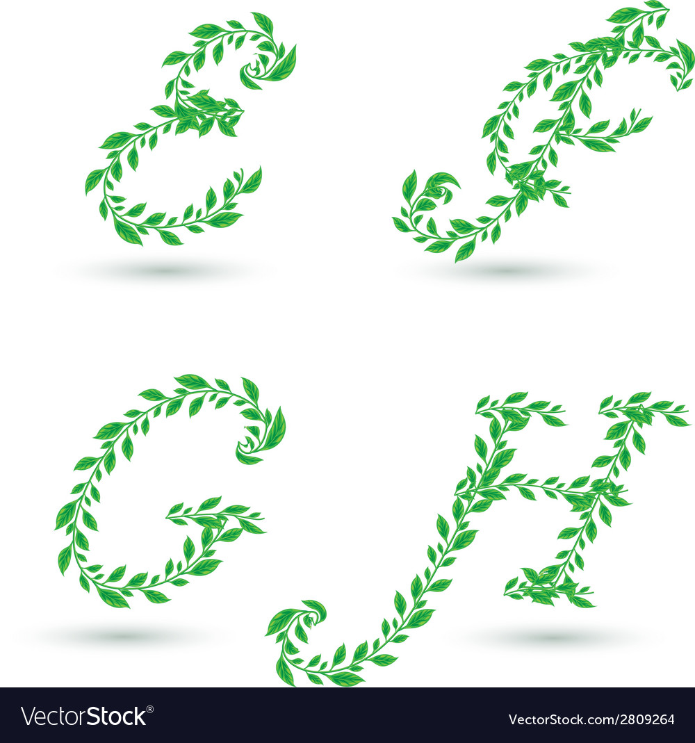 Leaf text e h vector | Price: 1 Credit (USD $1)