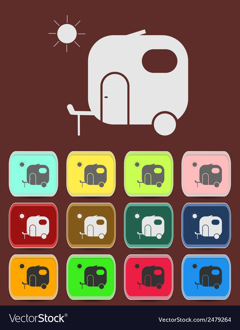 Motorhome car icon vector | Price: 1 Credit (USD $1)