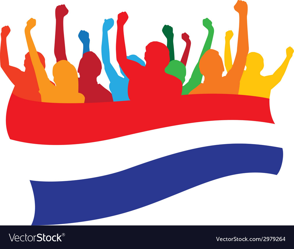 Netherlands fans vector | Price: 1 Credit (USD $1)