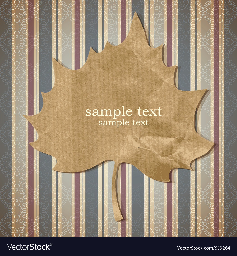 Paper leaf vector | Price: 1 Credit (USD $1)