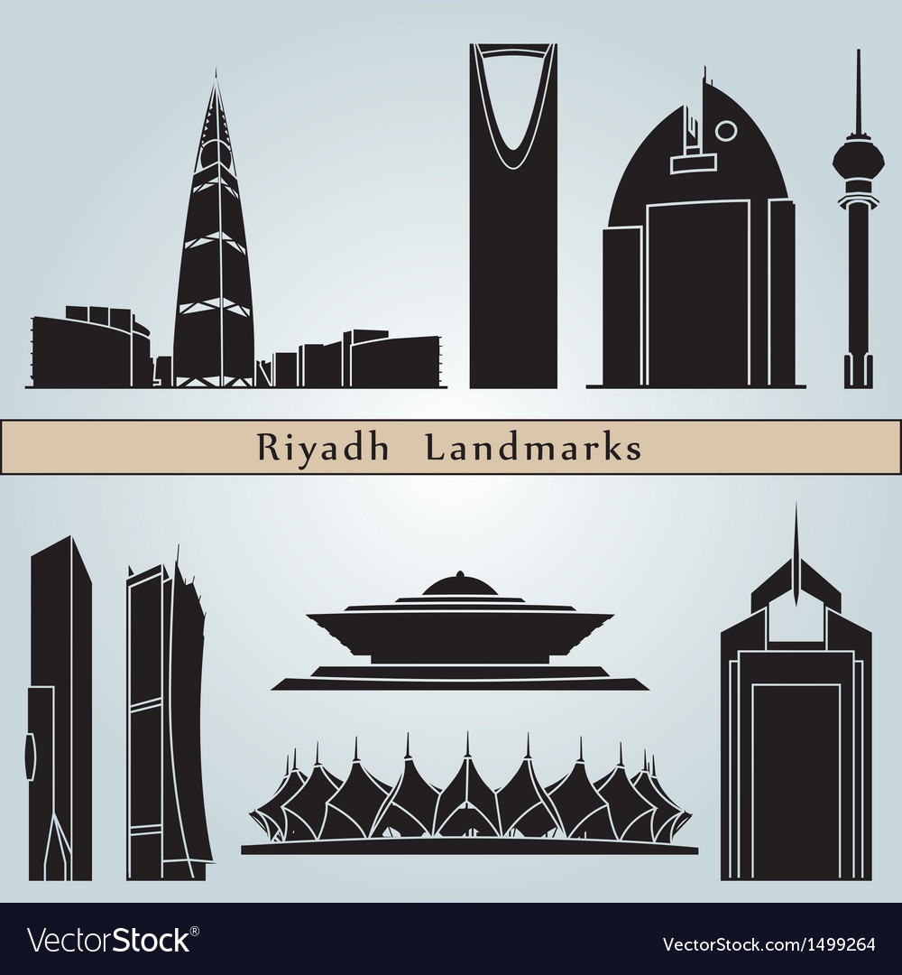 Riyadh landmarks and monuments vector | Price: 3 Credit (USD $3)