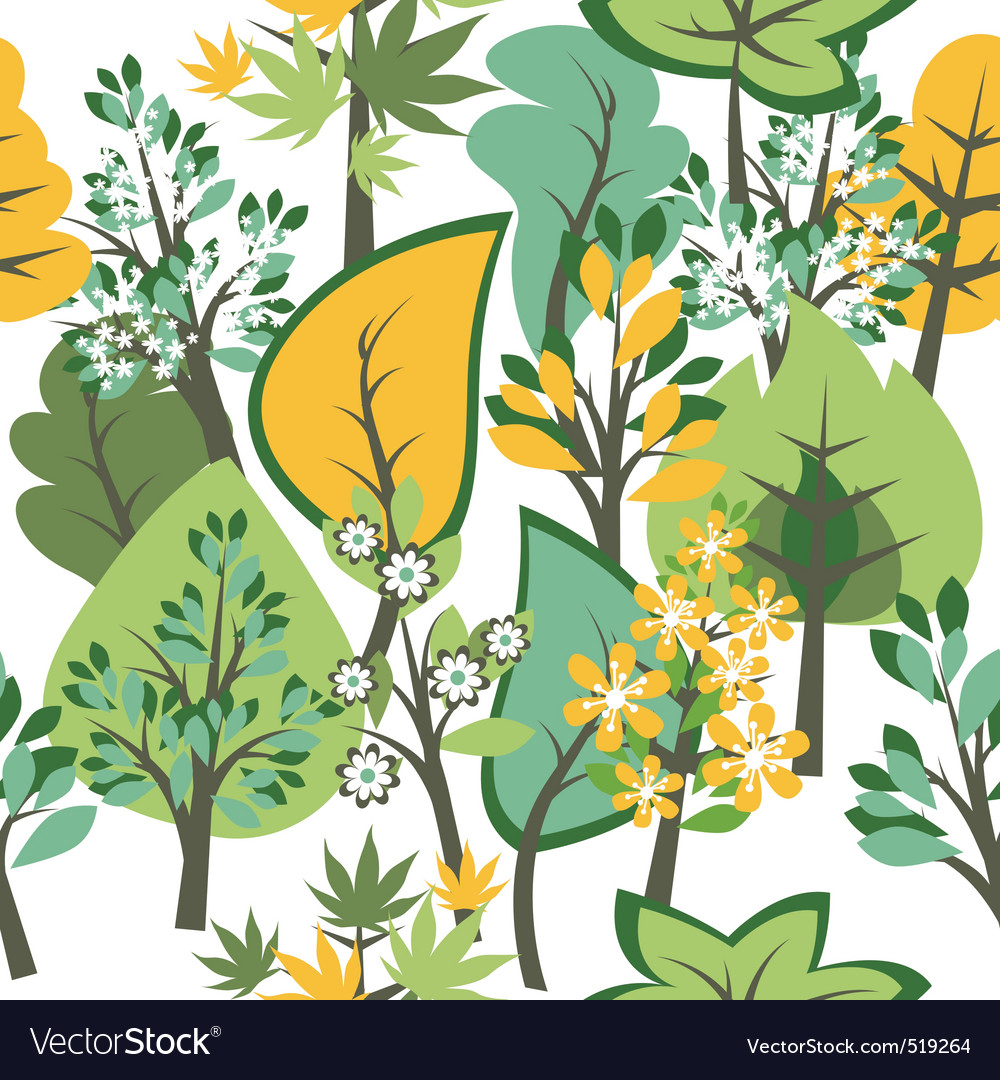 Seamless pattern with trees vector | Price: 1 Credit (USD $1)