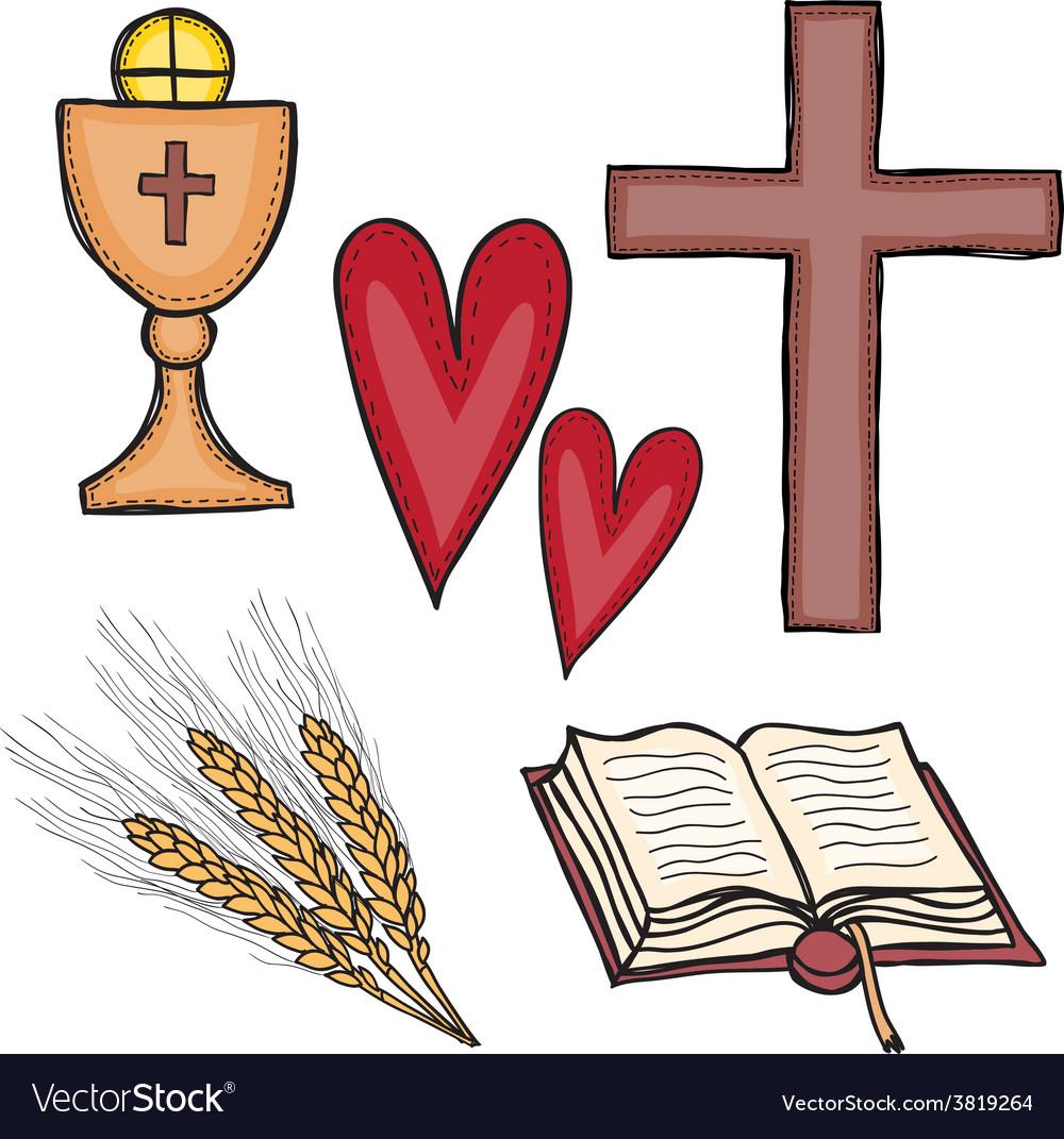 Set of religious symbols vector | Price: 1 Credit (USD $1)
