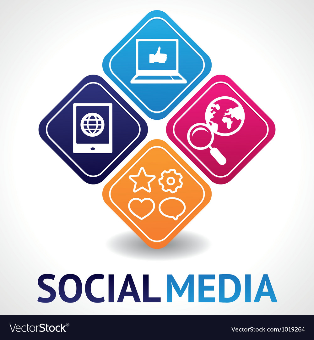 Social media concept vector | Price: 1 Credit (USD $1)