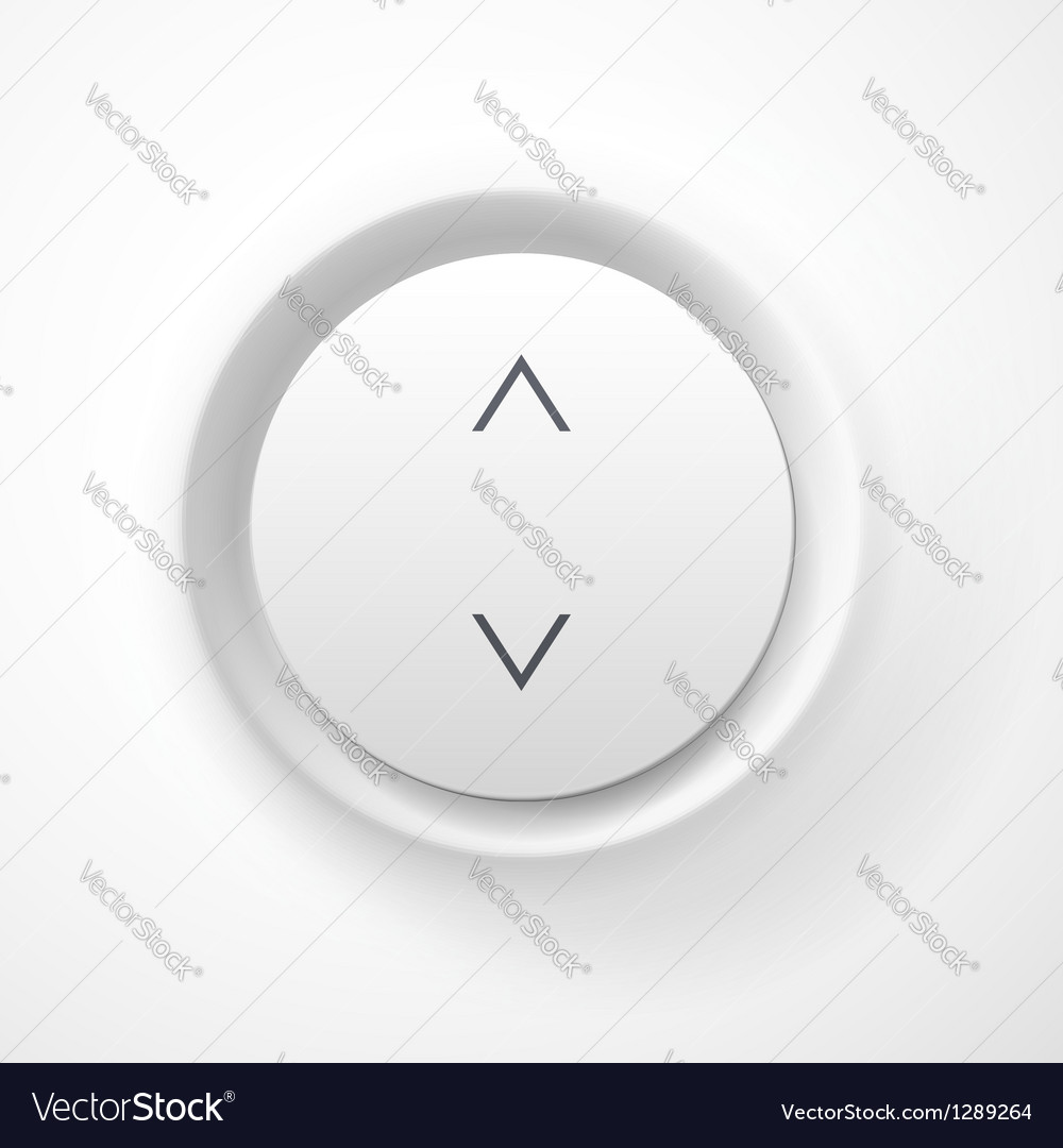 White plastic volume button vector | Price: 1 Credit (USD $1)