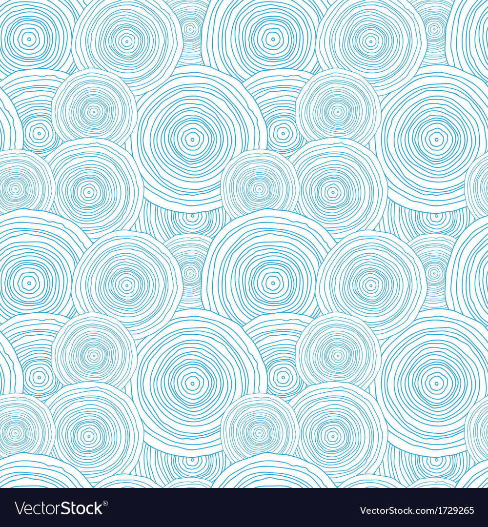 Doodle circle water texture seamless pattern vector | Price: 1 Credit (USD $1)