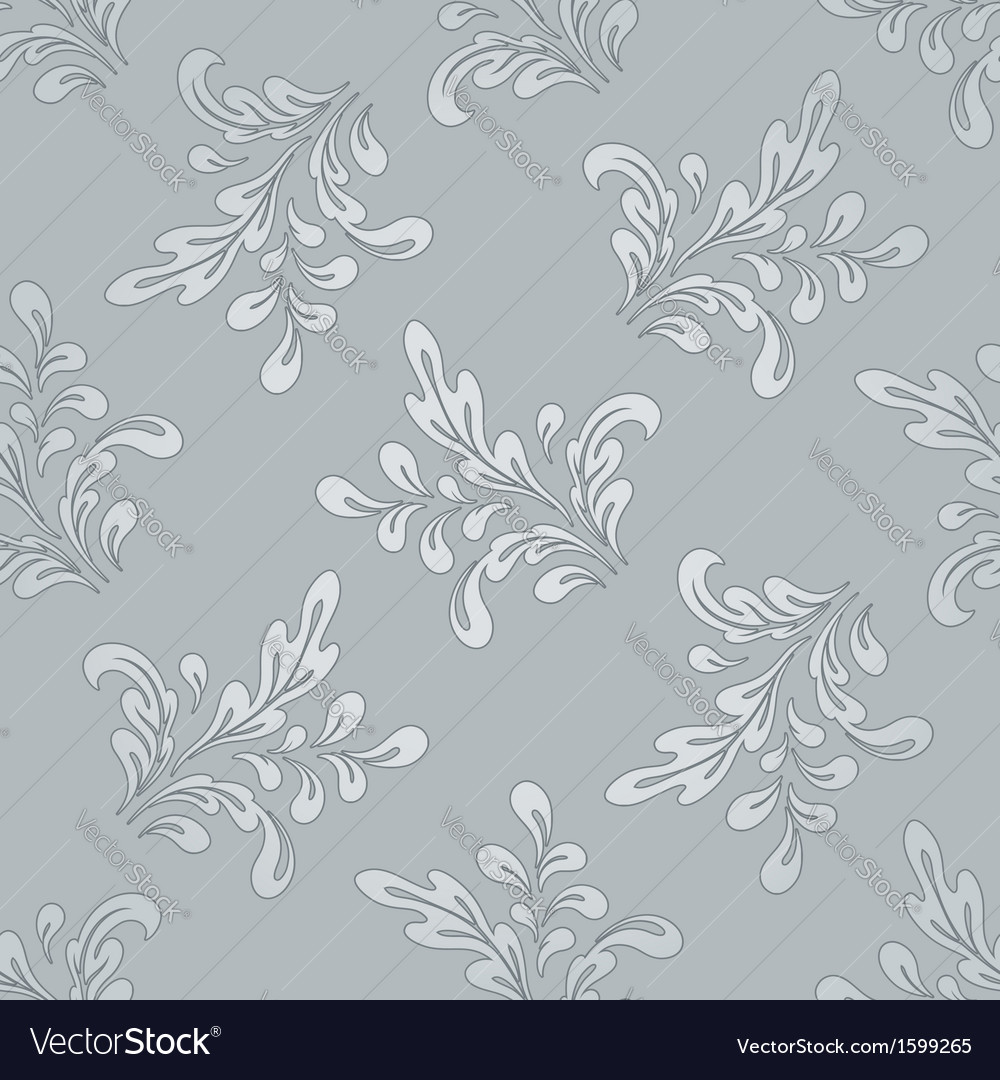 Floral swirls pattern vector | Price: 1 Credit (USD $1)
