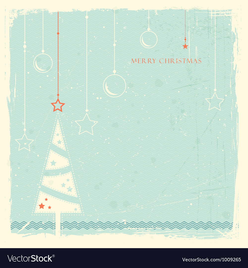 Grunge background with christmas tree vector | Price: 1 Credit (USD $1)