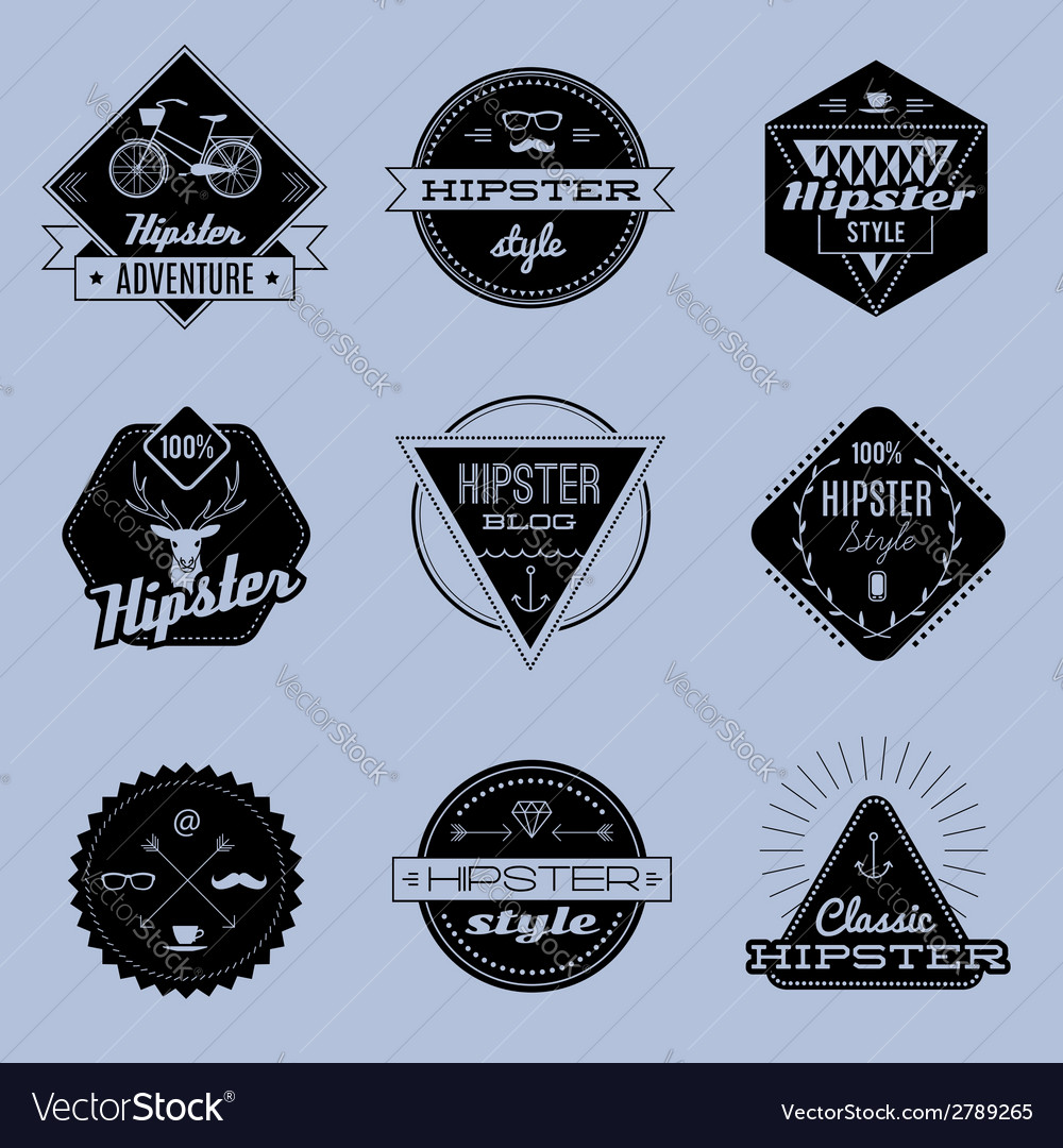 Hipster emblems vector | Price: 1 Credit (USD $1)