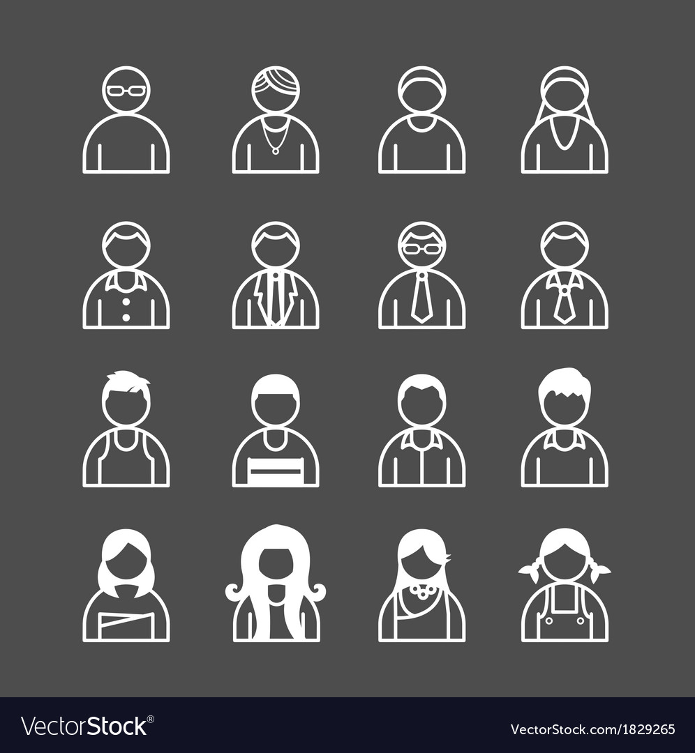 Human icons set vector | Price: 1 Credit (USD $1)