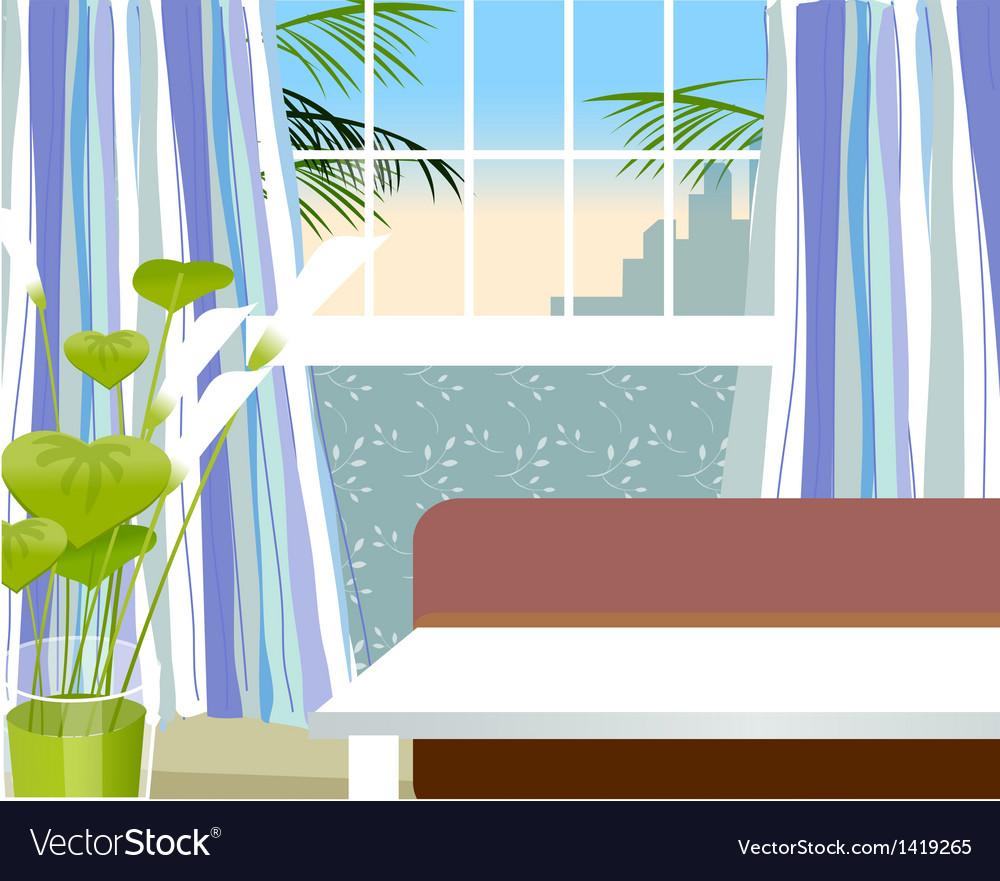Living room interior vector | Price: 1 Credit (USD $1)