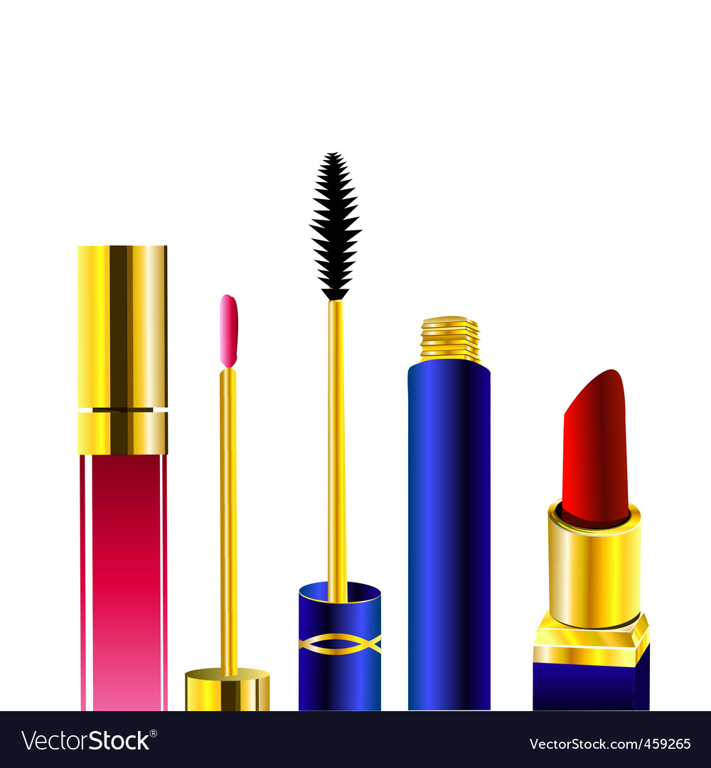 Makeup set vector | Price: 1 Credit (USD $1)