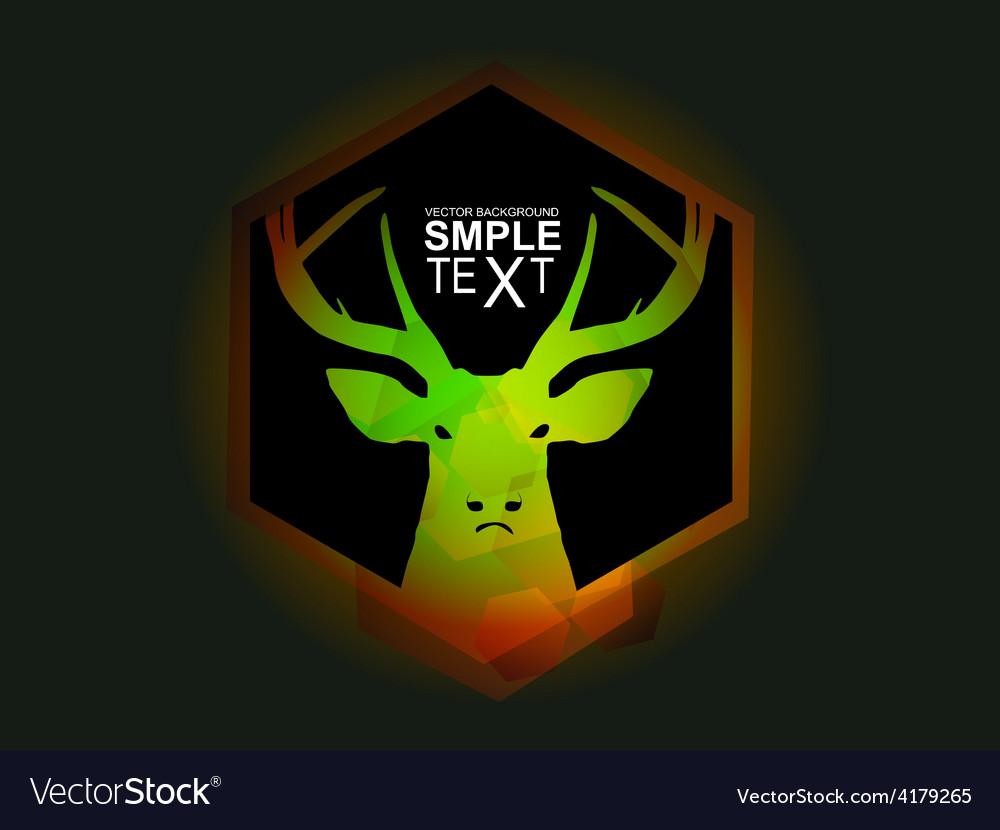 Mystic green deer vector | Price: 1 Credit (USD $1)
