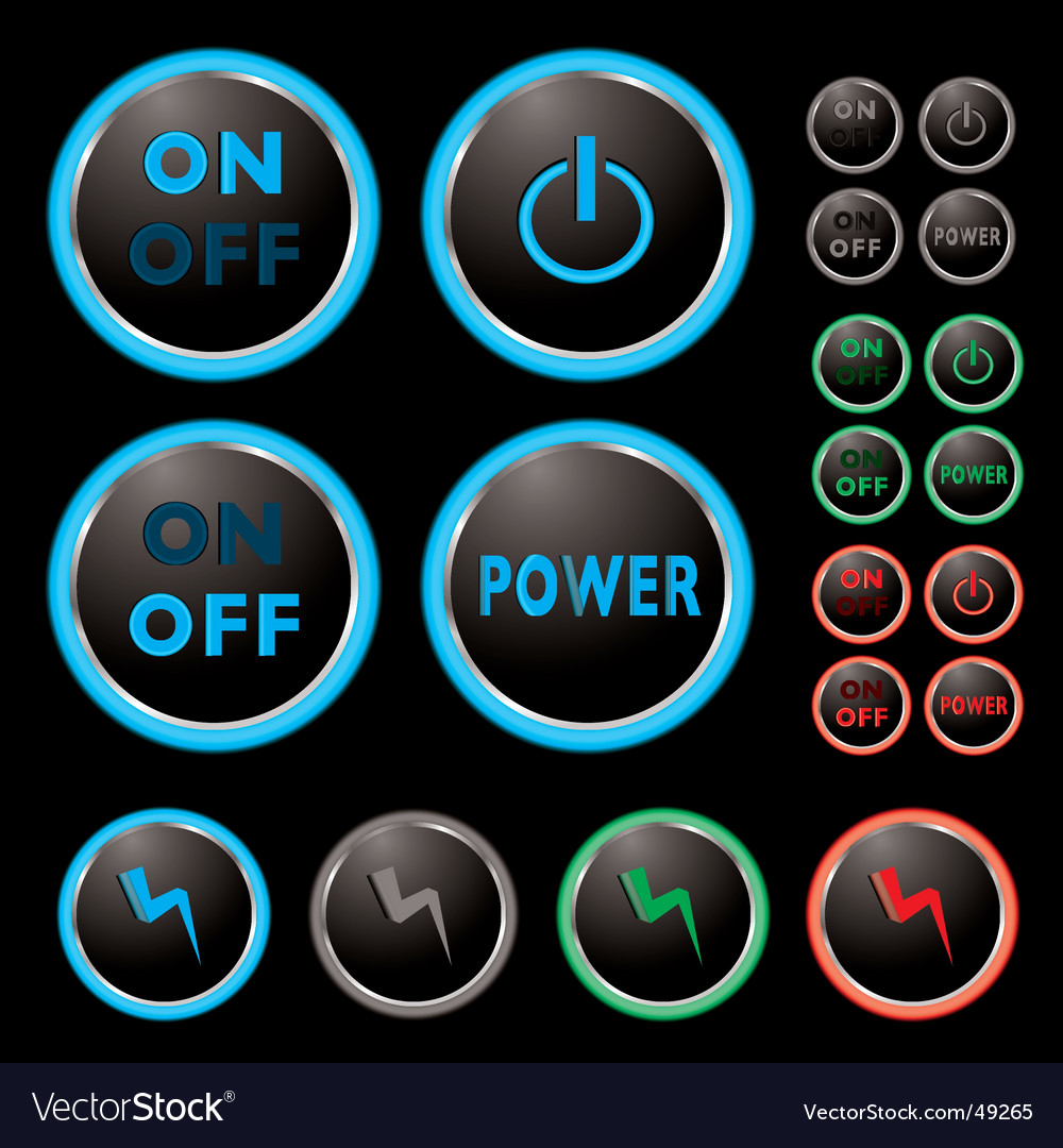 Power buttons vector | Price: 1 Credit (USD $1)