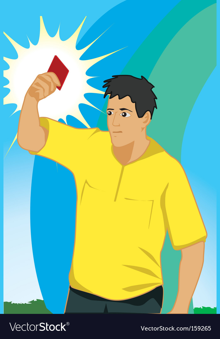 Referee shows red card vector | Price: 1 Credit (USD $1)