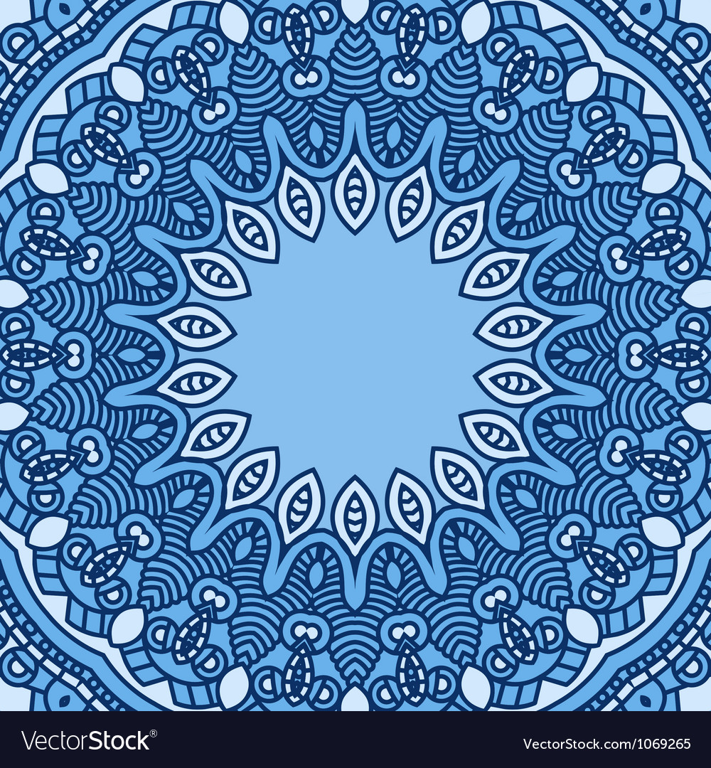 Round decorative design element vector | Price: 1 Credit (USD $1)