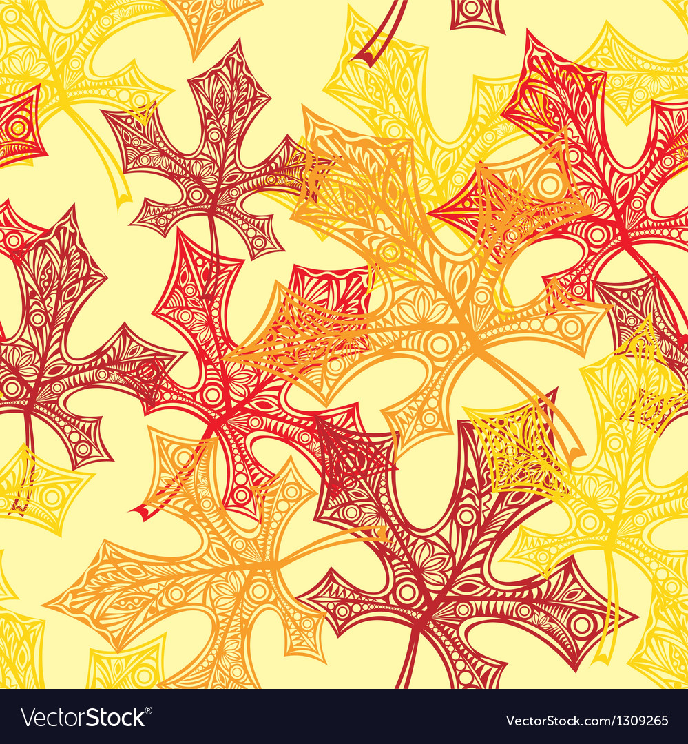 Seamless backgroun autumn vector | Price: 1 Credit (USD $1)