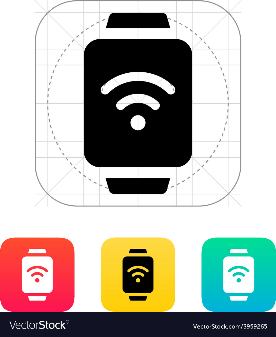 Wireless payment on smart watch icon vector | Price: 1 Credit (USD $1)