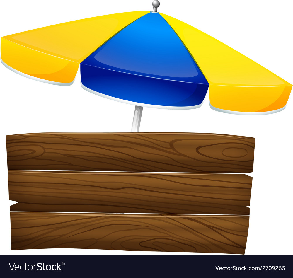 An empty signage with an umbrella vector   Price: 1 Credit (USD $1)