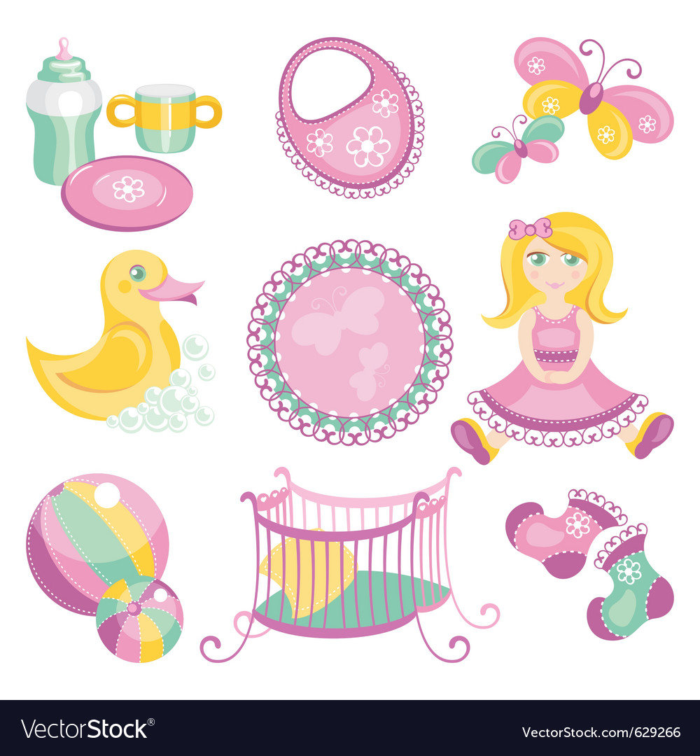 Baby products vector | Price: 1 Credit (USD $1)