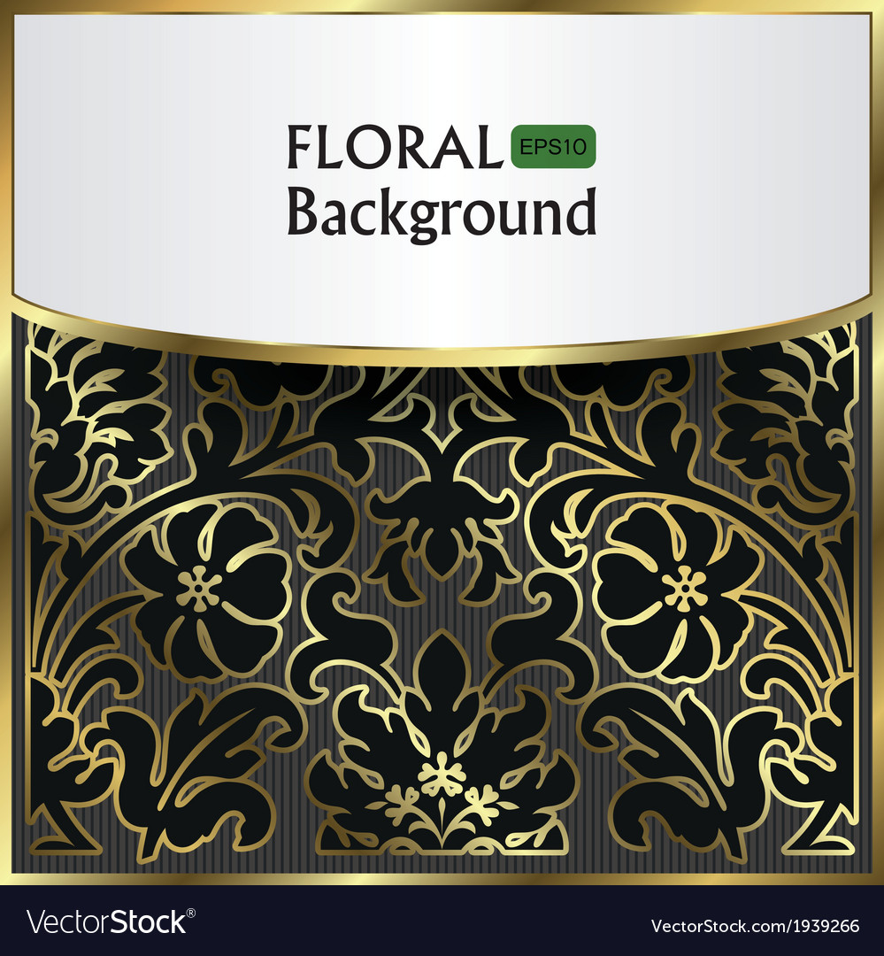 Background with a gold flower pattern vector | Price: 1 Credit (USD $1)