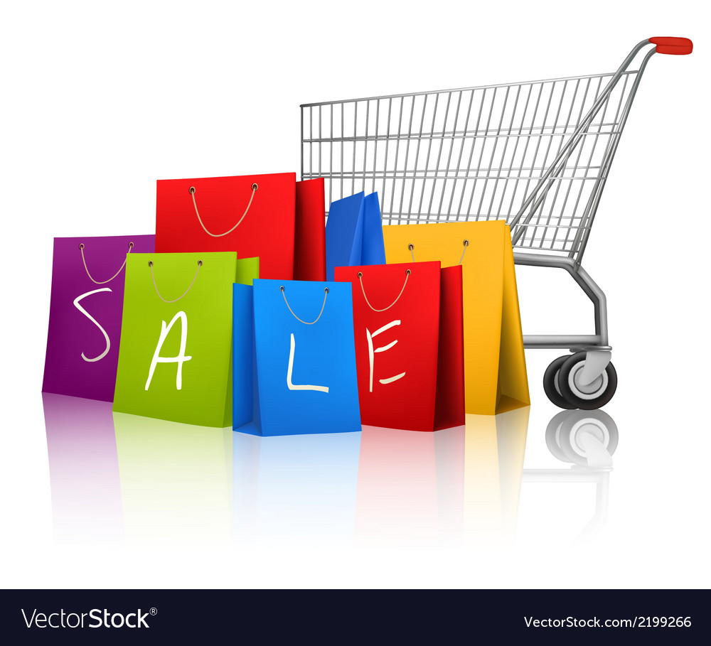 Background with colorful shopping bags and vector | Price: 1 Credit (USD $1)