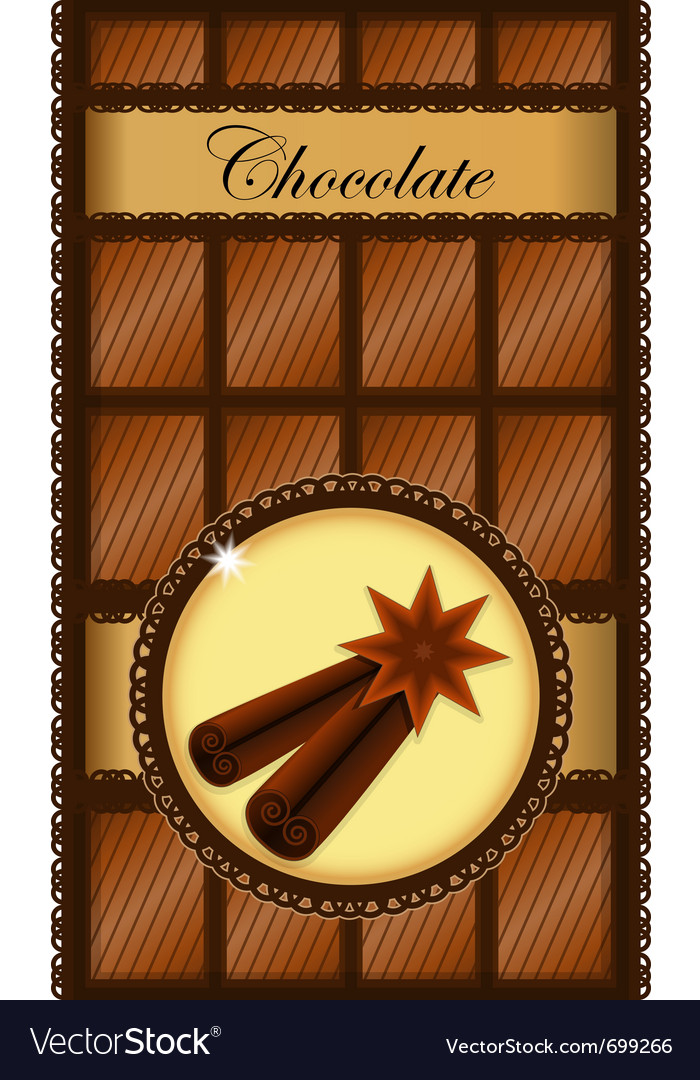 Cinnamon chocolate bar vector | Price: 1 Credit (USD $1)