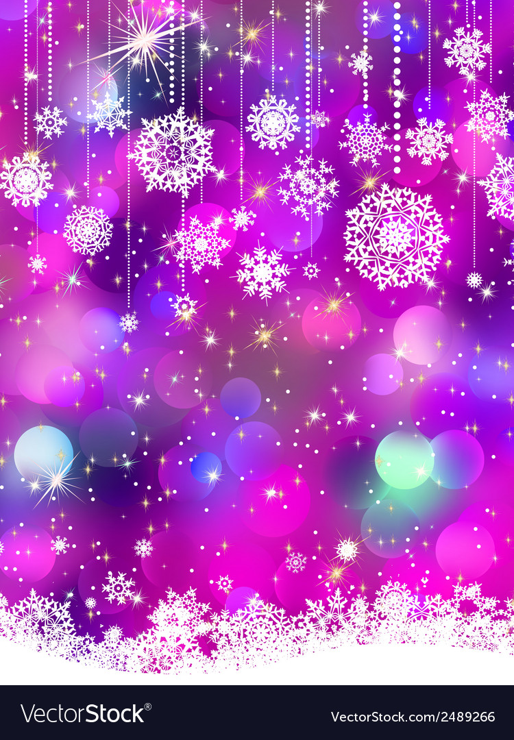 Colorful background with snowflakes eps 8 vector | Price: 1 Credit (USD $1)