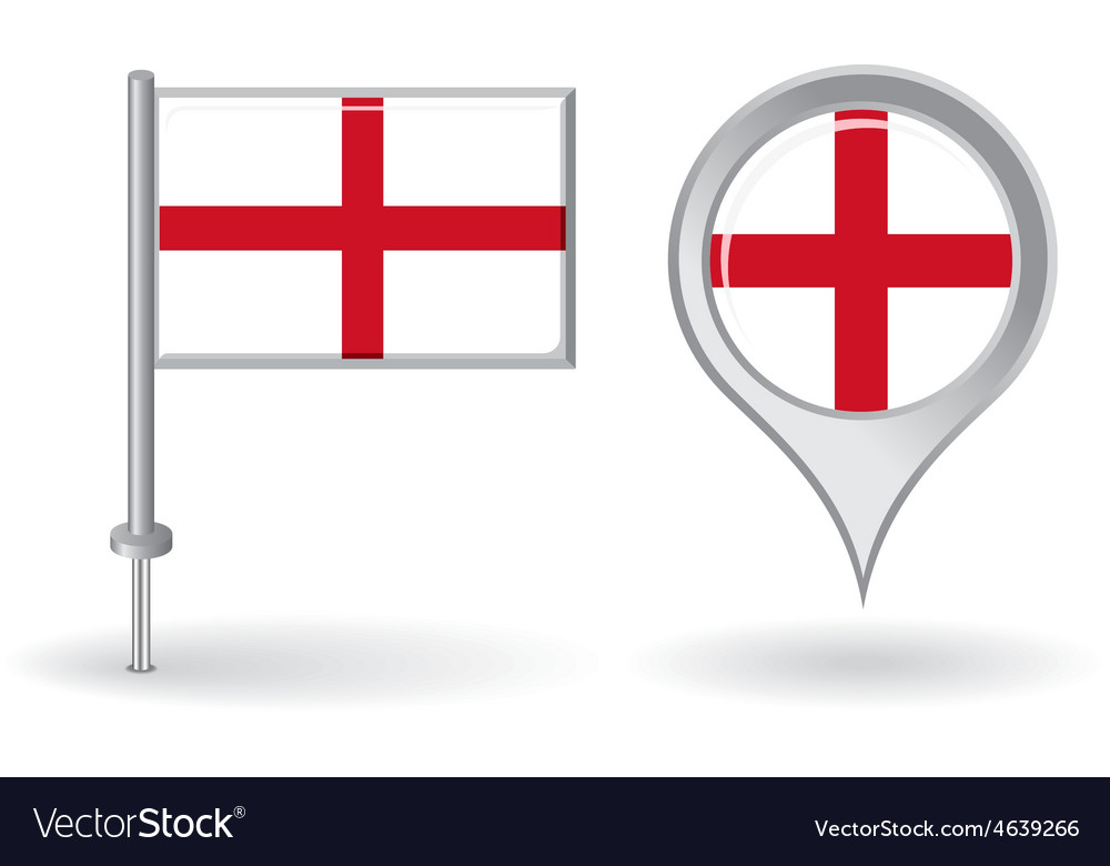 English pin icon and map pointer flag vector   Price: 1 Credit (USD $1)