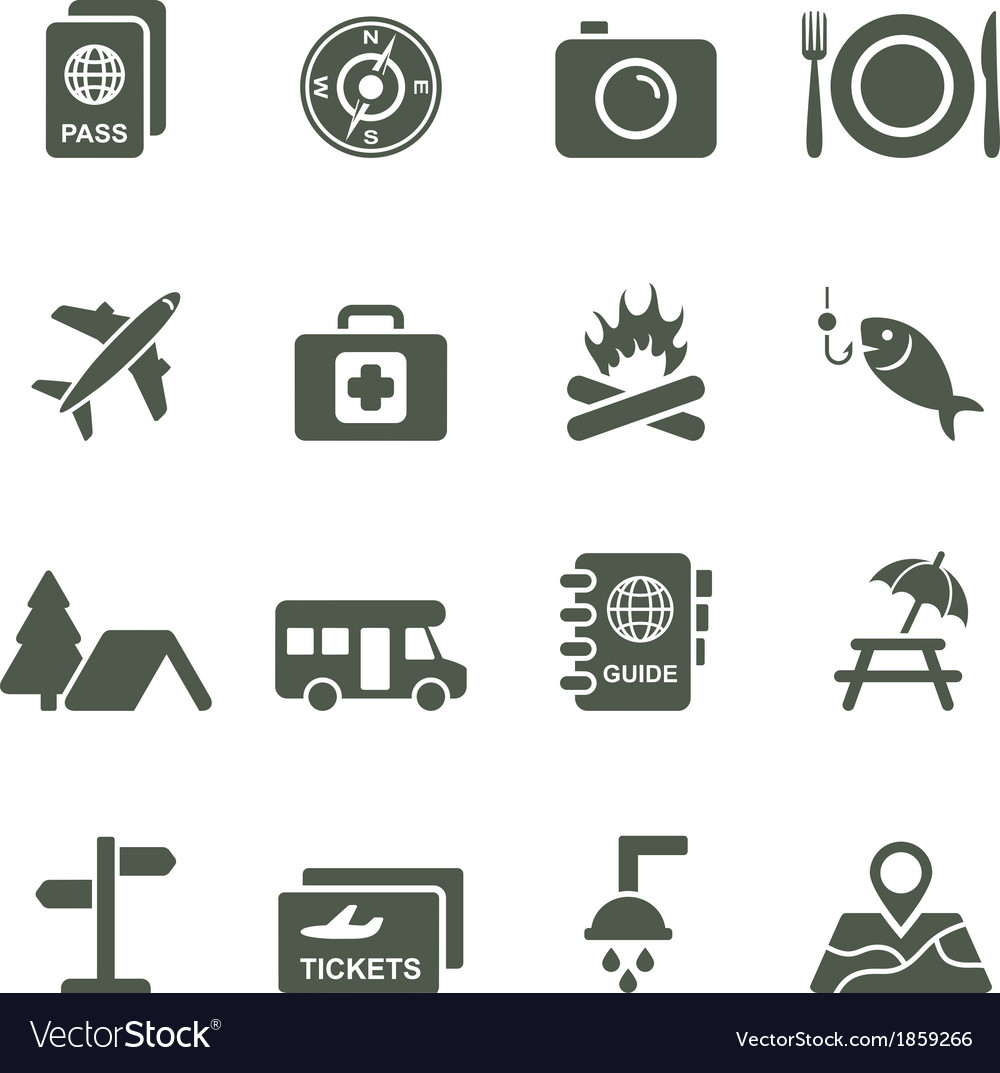 Icons for travel and tourism vector | Price: 1 Credit (USD $1)