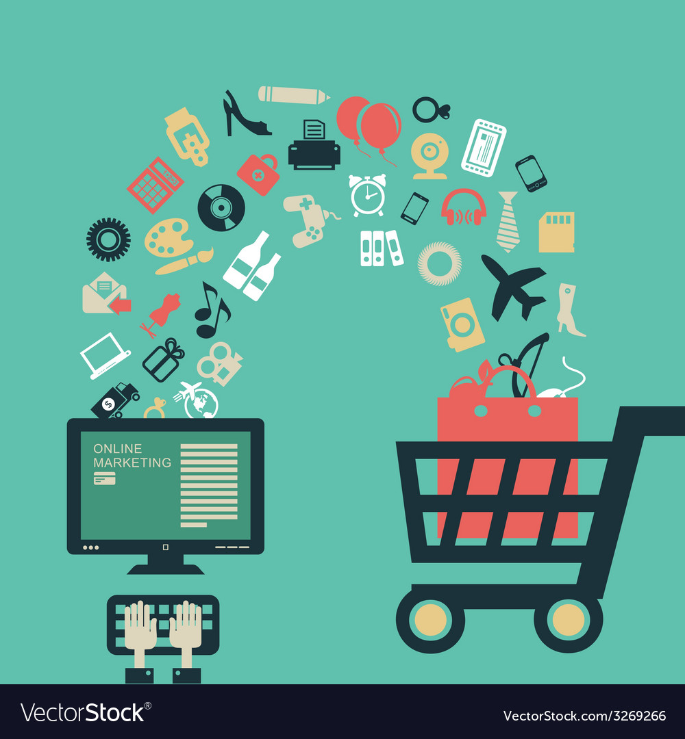 Internet shopping vector | Price: 1 Credit (USD $1)