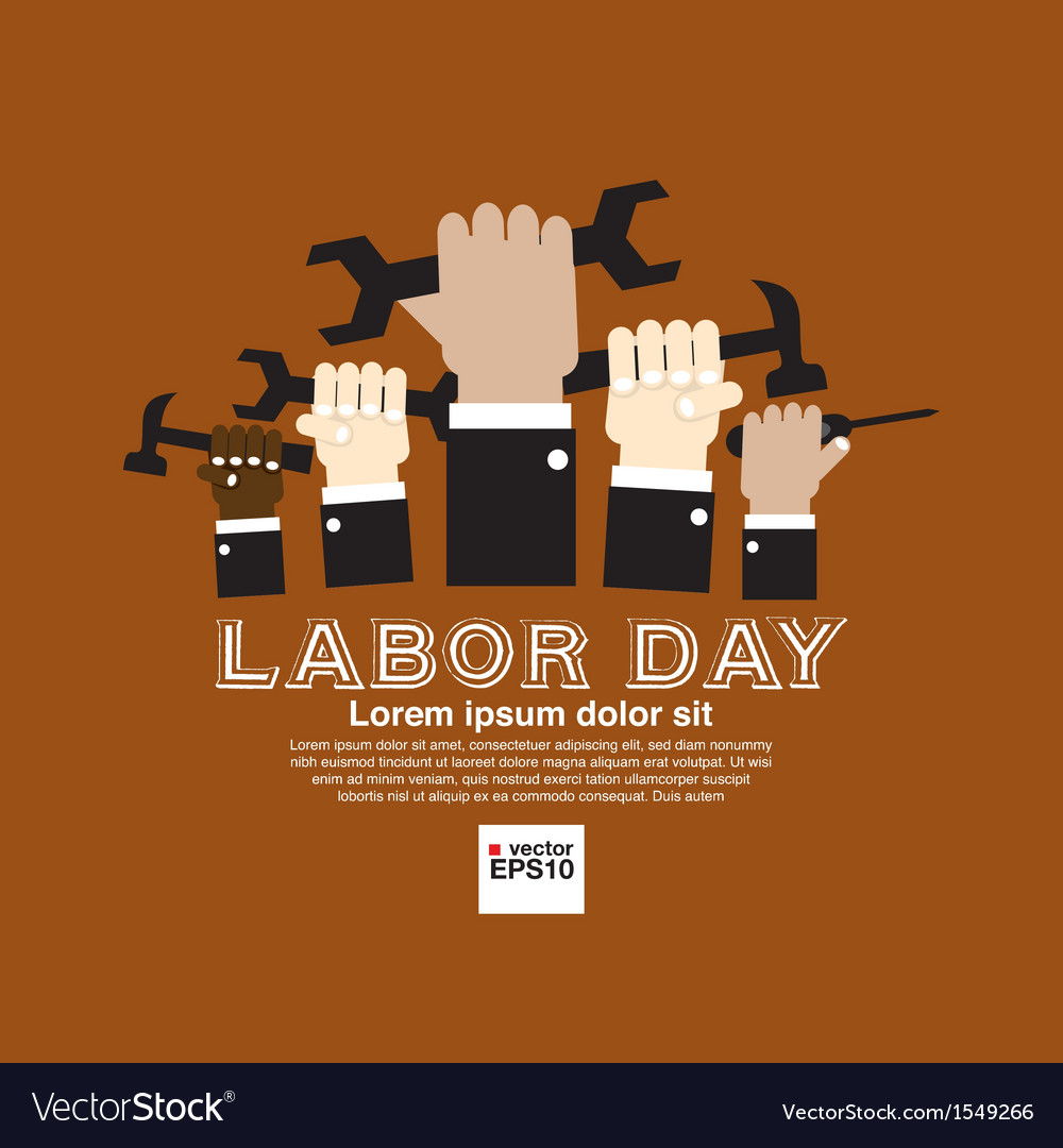 Labor day simply and clean conceptual vector | Price: 1 Credit (USD $1)
