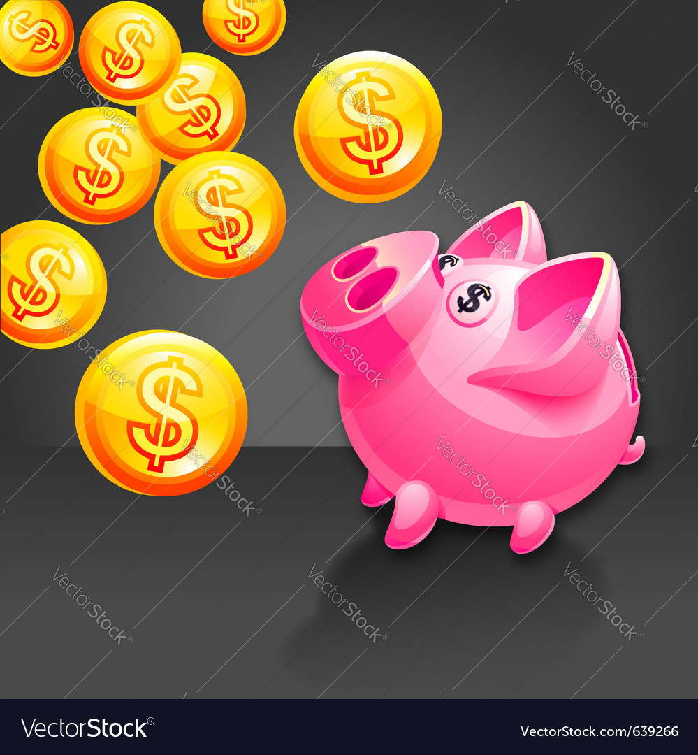 Piggy bank icon vector | Price: 3 Credit (USD $3)