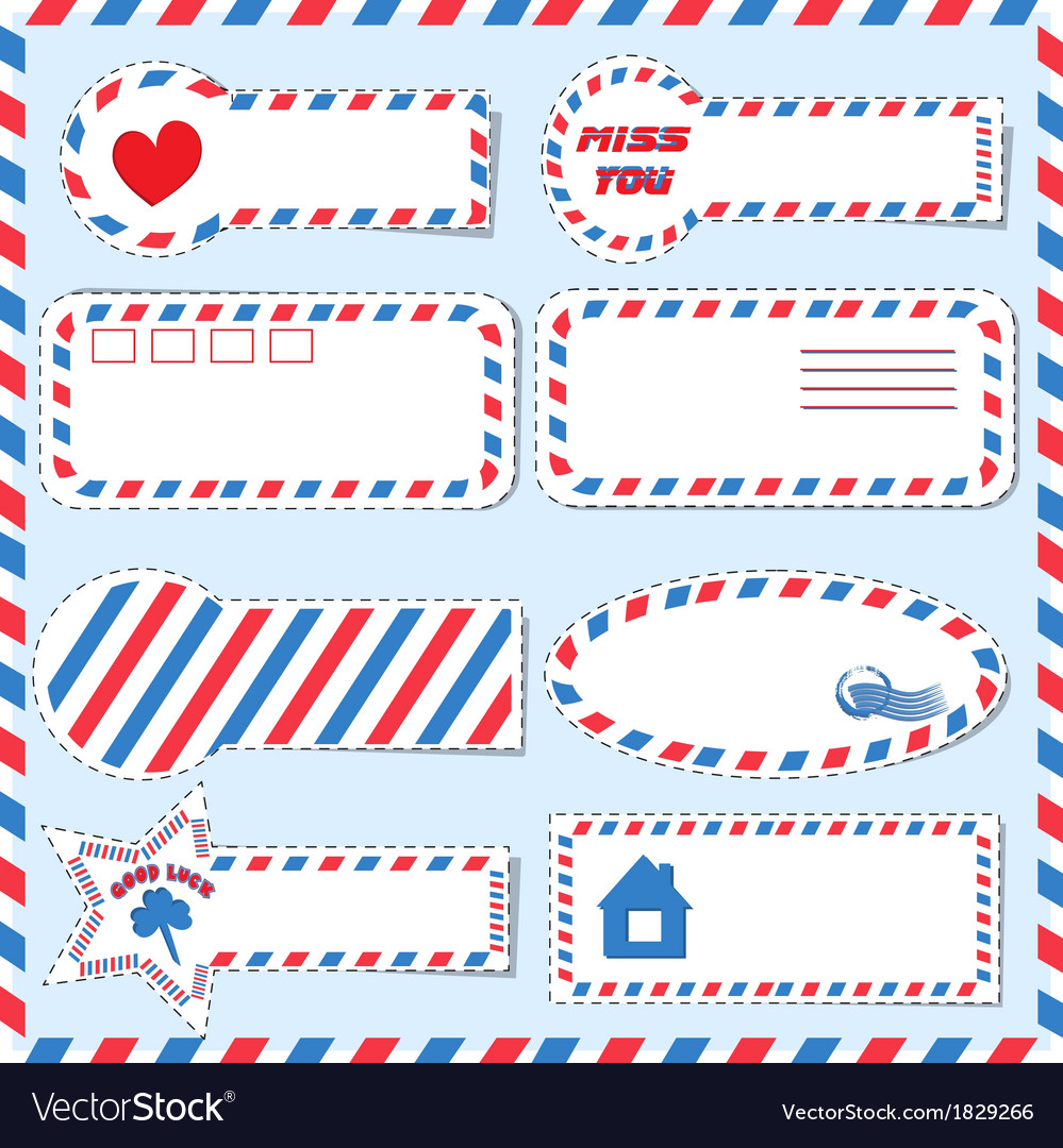 Postal stickers vector | Price: 1 Credit (USD $1)