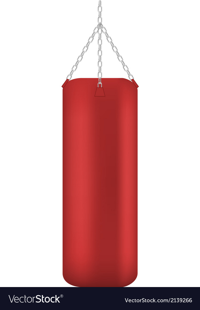 Punching bag isolated vector | Price: 1 Credit (USD $1)