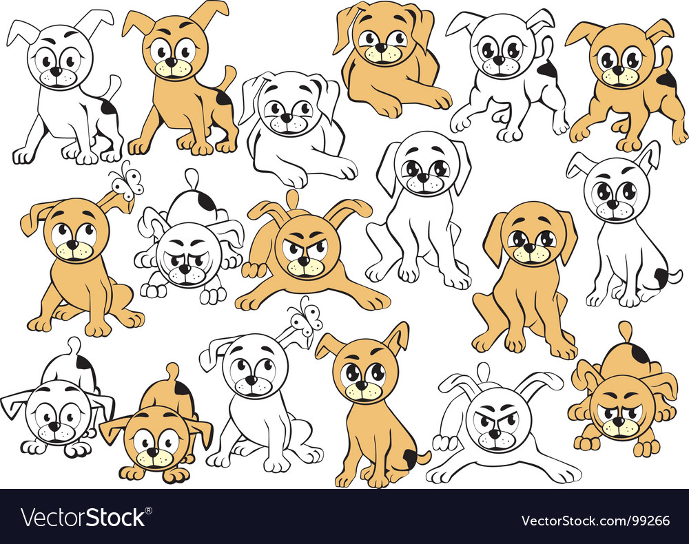 Puppy cartoons vector | Price: 1 Credit (USD $1)
