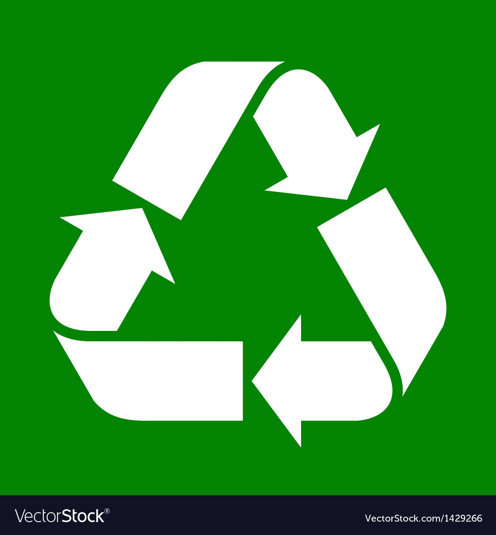 Recycled paper symbol vector | Price: 1 Credit (USD $1)