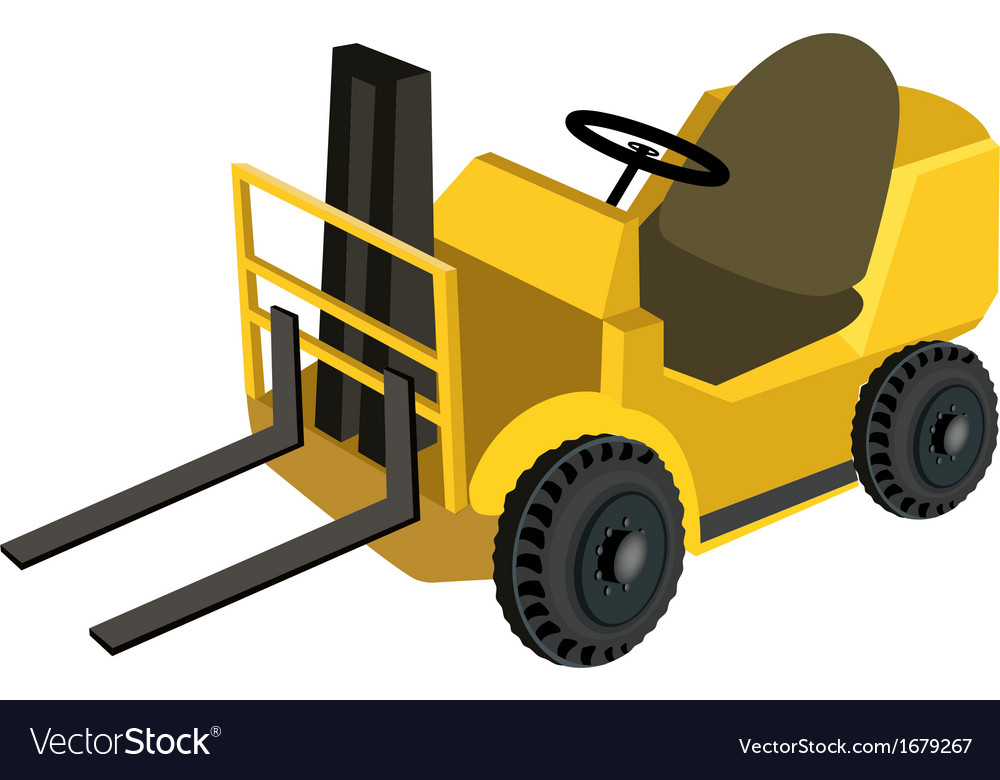 A powered industrial forklift truck vector | Price: 1 Credit (USD $1)