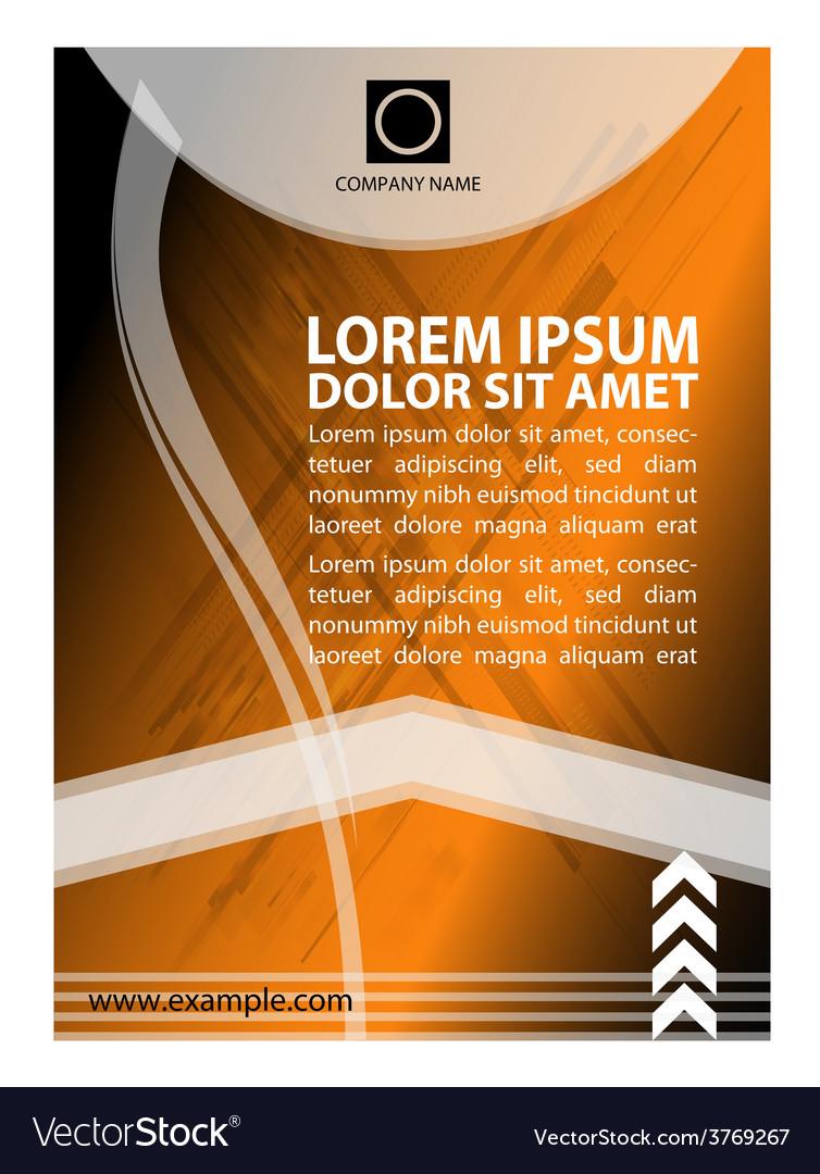 A4 modern flyer design vector | Price: 1 Credit (USD $1)