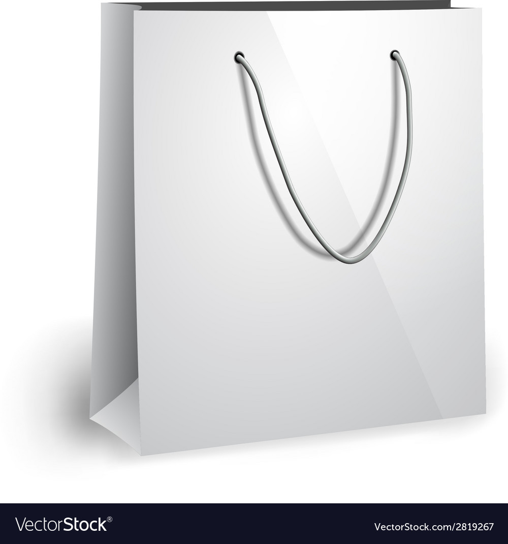 Blank paper bag template vector | Price: 1 Credit (USD $1)
