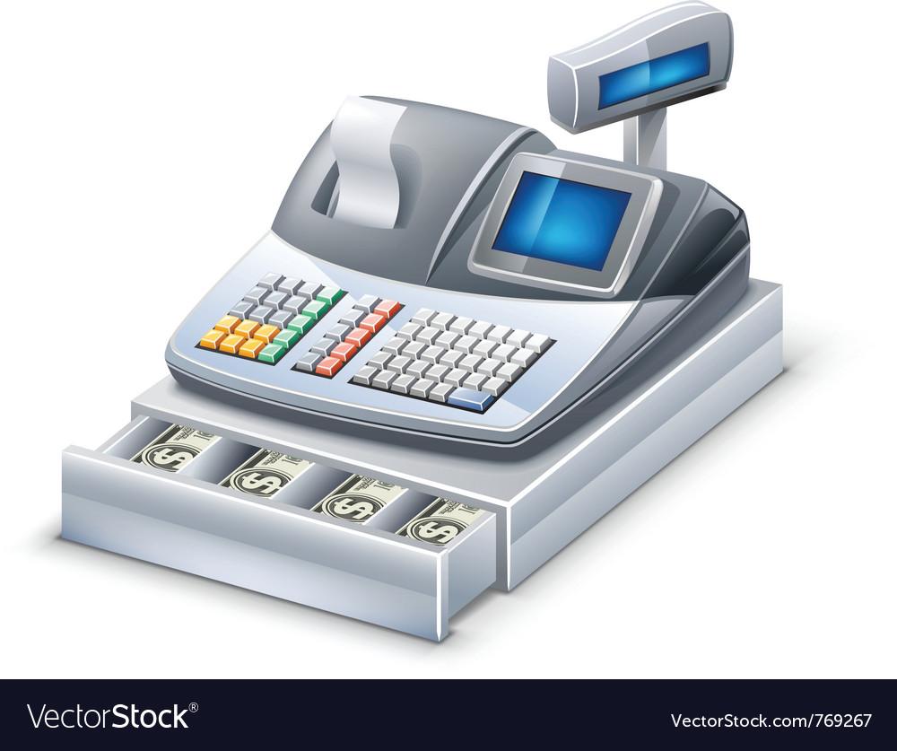 Cash register vector | Price: 3 Credit (USD $3)