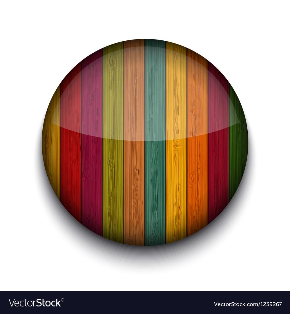 Circle wooden app icon vector   Price: 1 Credit (USD $1)