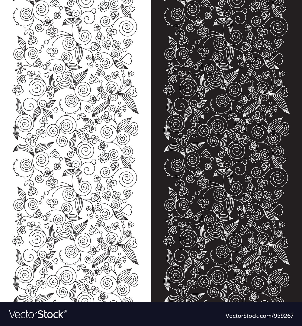Decorative flower seamless patterns vector | Price: 1 Credit (USD $1)