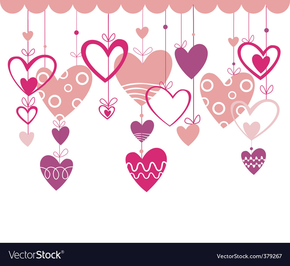 Love background with heart vector | Price: 1 Credit (USD $1)