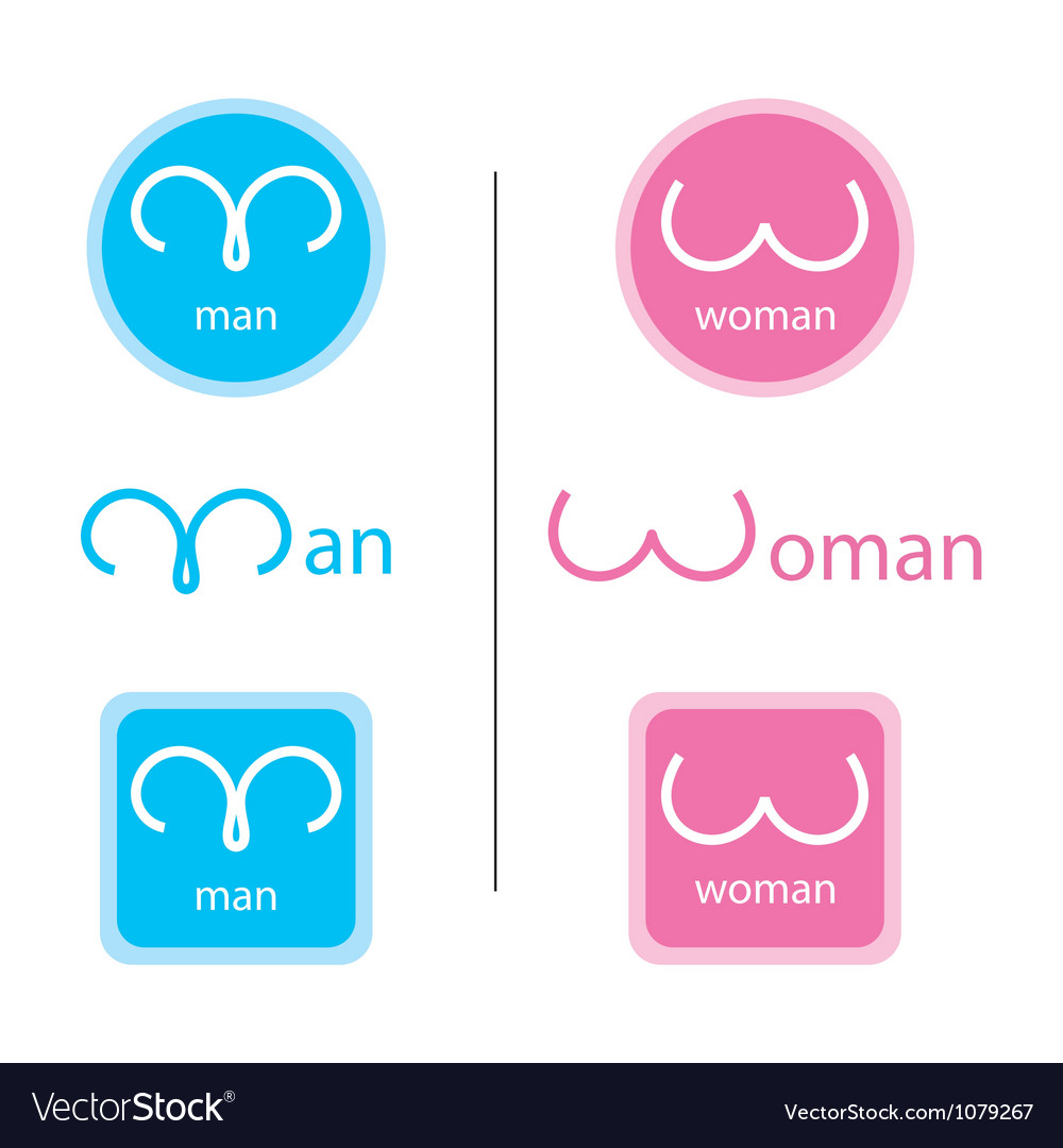 Man woman signs vector | Price: 1 Credit (USD $1)