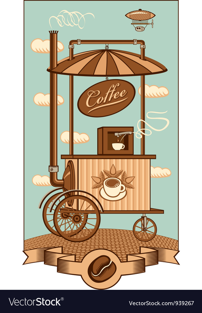 Mobile coffee vector | Price: 3 Credit (USD $3)