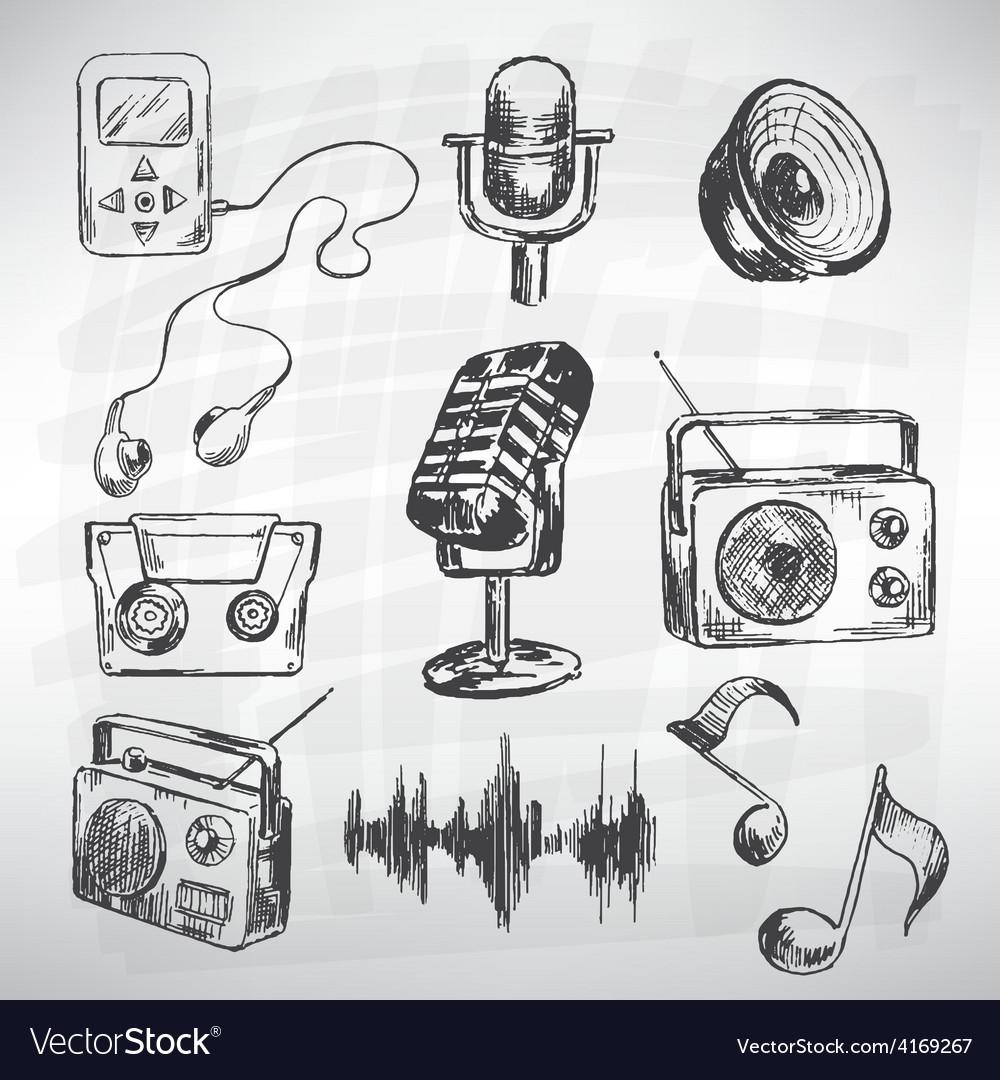 Music set vector | Price: 1 Credit (USD $1)